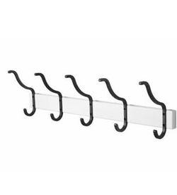 Coat Rack - White, 5 Hooks, Wood, Metal, Towel Rack - BRAND NEW for Sale in Brooklyn,  NY