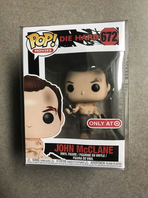 John McClane Die Hard Funko Pop Target Exclusive Shirtless Bruce Willis Movies 672 with protector for Sale in Lewisville, TX