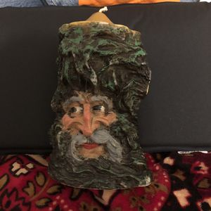 """Vintage Candle. 8""""Tall very cool Tree with a Mans Face. Never been used. for Sale in Bonney Lake, WA"""