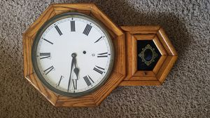 Antique Ansonia Wall Clock w/ Key for Sale in Garner, NC
