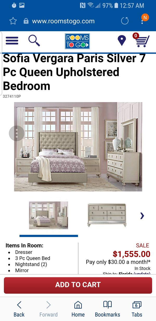 Queen Upholstered 7pc Bedroom For Sale In Vero Beach Fl Offerup