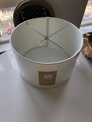 "White Linen Lamp Shade 15"" D for Sale in Portland, OR"