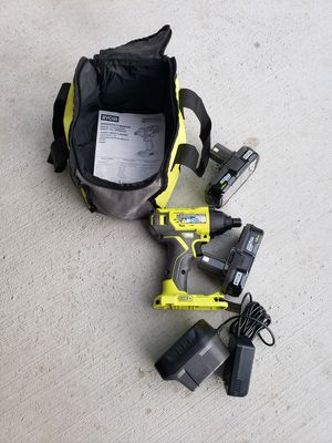 RYOBI DRILL 2 BATTERY AND CHARGER NEW for Sale in Riverside, CA