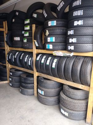 Tires used start life 50% to 80% tread good start $35 to $80 each tire for Sale in Hesperia, CA