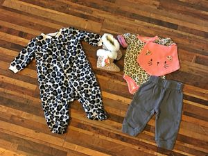 Infant outfit, pj's and booties for Sale in Peyton, CO