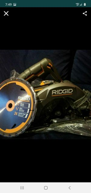 Brand new ridgid circular saw 7 1/4 for Sale in Bakersfield, CA
