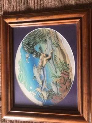 Mermaid and dolphins- 12.5x 10.5 for Sale in Palm City, FL