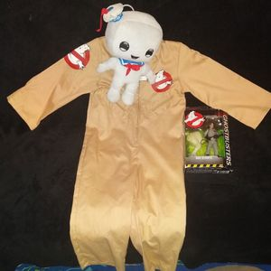 Ghostbusters Kids Costume With Plushie And Action Figure for Sale in Albuquerque, NM