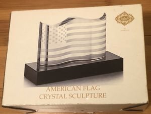 American Flag Crystal Sculpture for Sale in Anderson, SC