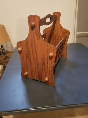 Wooden magazine rack for Sale in New Baltimore, MI