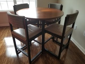 Beautiful Copper Top Highboy Table w/4 Wooden Chairs for Sale in Greenville, NC
