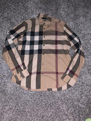 Burberry Brit men's L nova check button up shirt for Sale in Portland, OR
