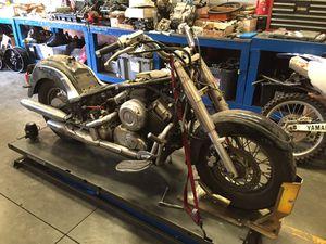 PARTING OUT: Yamaha XVS650 650 Vstar Motorcycle Wheel Rim Carburetor Fender Seat Headlight Brake Disc Rotor Stator Starter Motor Final Drive for Sale in Fontana, CA