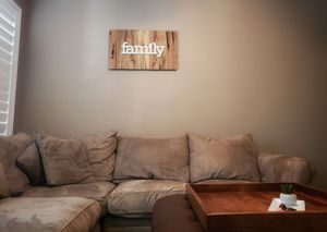 Reclaimed Wood FAMILY Sign for Sale in San Diego, CA