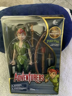 NEW DISNEY STORE EXCLUSIVE DISNEY ADVENTURES PETER PAN ACTION FIGURE ( BOX HAS MINOR DAMAGE SEE PHOTOS. for Sale in Henderson, NV