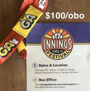 One 2-Day Innings Festival General Admission for Sale in Tucson, AZ