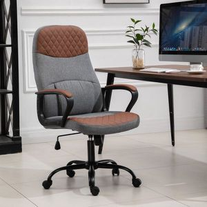 Ergonomic Home Office Chair with USB Power 360 Wheels Brown and Grey for Sale in Los Angeles, CA