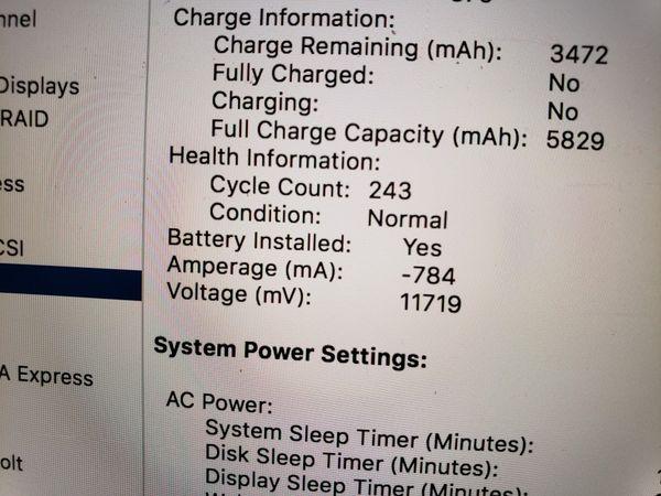 "Apple Macbook Pro 13"" Retina 2.5GHz Intel i5, 8GB Ram, 128GB SSD, Low Battery Count."