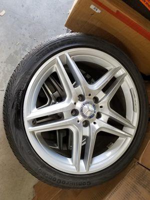 Set 4x Mercedes E350 AMG Original Wheels Rims Continental tires for Sale in Los Angeles, CA