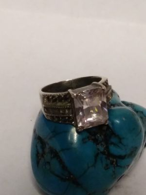 Size 5 Marcasite crystal Sterling silver ring for Sale in Willow Street, PA