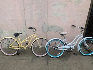 Two beach cruiser bikes fairly new 2 for 1 price for Sale in Richmond, CA