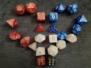 Dice for Board Games: 'Murica- Acrylic DnD 7-Piece Combo Set for Sale in Cypress, CA