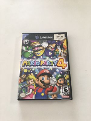 Mario Party 4 Nintendo GameCube mint condition Works Tested hard cover brand new game cube for Sale in Fort Lauderdale, FL