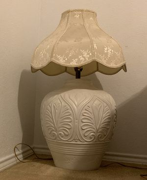 Large Ceramic vase lamp and shade for Sale in San Antonio, TX