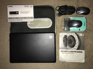 HP G56 Bundle! 2 Mouses and a mouse pad and a laptop charger and a laptop pouch and the laptop for Sale in Seattle, WA