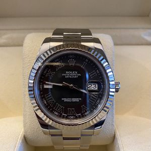 Rolex Oyster Perpetual Datejust Black Dial Jubilee Men's Watch for Sale in Hollywood, FL