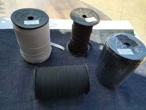 "Elastic Band Elastico Elastic Cord 1/8"" 3/8"" and 1/2"" black or white for Sale in Los Angeles, CA"