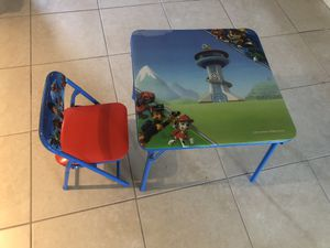 Kids table set with chair for Sale in West Palm Beach, FL