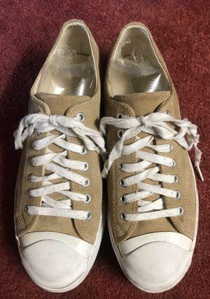 Converse Jack Purcell Women's Sz 10 Tan Suede Platform Sneakers for Sale in Las Vegas, NV