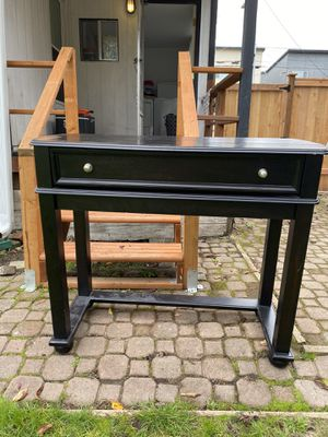 Black desk/sofa table/TV stand for Sale in Seattle, WA