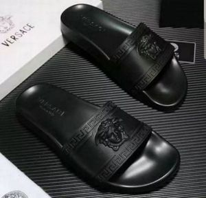 NWT Versace Men's Palazzo Medusa Logo Black Slide Sandals sz 9.5 gucci shoes sneakers nike for Sale in Windsor, CT
