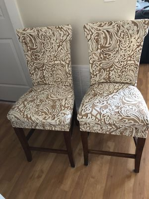 two bar stools with removable covers, in excellent condition, clean, soft and comfortable. for Sale in Braintree, MA