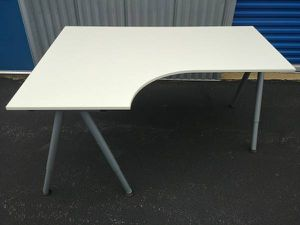 ADJUSTABLE HEIGHT WHITE IKEA GALANT CORNER DESK for Sale in Baltimore, MD