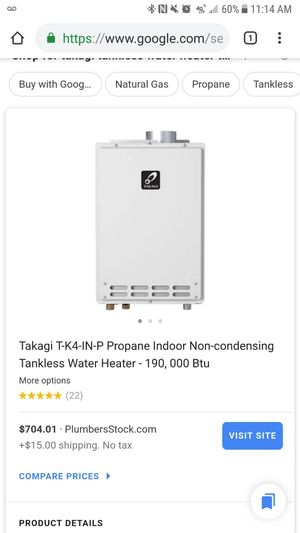 Takagi tankless water heater for Sale in North Miami Beach, FL