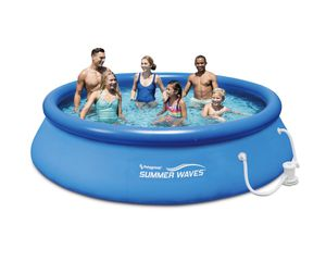 """Summer Waves 12' x 30"""" Quick Set Above Ground Swimming Pool with Filter Pump System for Sale in Orem, UT"""