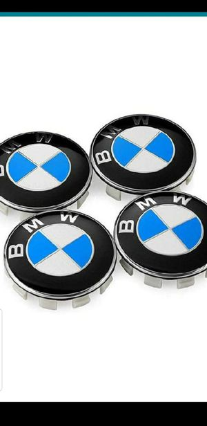 Brand New set of 4 BMW logo hub caps for rims fits all BMW rims 335i 535i 328i 528i x5 m3 m5 530i 330i for Sale in South Gate, CA