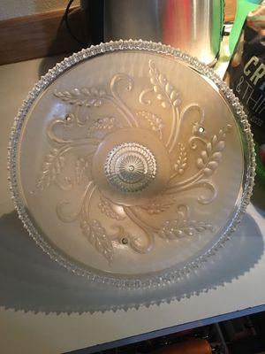Antique glass light cover 14 inches round for Sale in Shoreline, WA