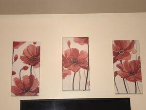 3 piece wall art for Sale in Hampton, VA