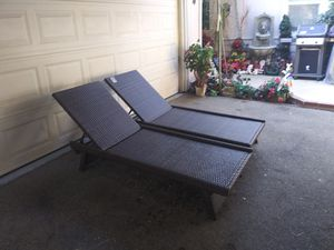 Outdoor patio chaise lounging chairs for Sale in Burbank, CA
