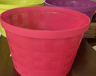 Plastic Easter Baskets/Buckets for Sale in Oswego,  IL