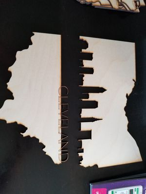 Unfinished wood cleveland skyline cut out. ..$20.00 for Sale in Philadelphia, PA