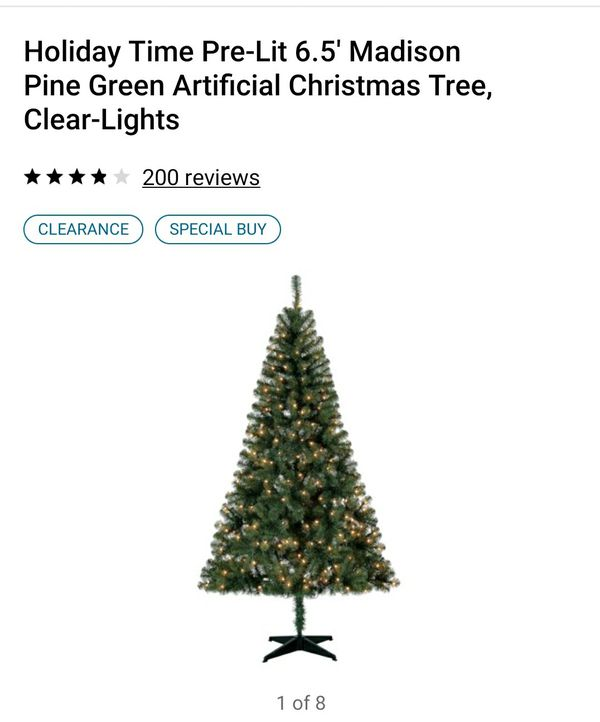 Pre-lit 6.5 ft Xmas tree