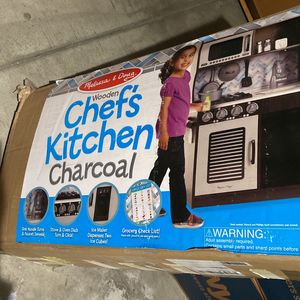 Melissa & Doug Wooden Chef's Kitchen Charcoal Brand New - Still In Box Plus Accessories for Sale in San Diego, CA