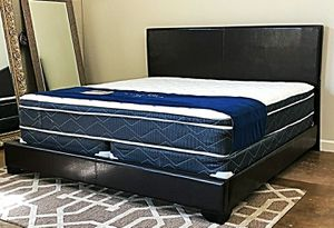 BRAND NEW KING SIZE BED AND PILLOW TOP MATTRESS (FREE DELIVERY) for Sale in Lewisville, TX