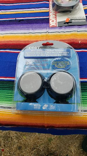 Coby Mini Stereo Speaker System (have a few, $5 each ) for Sale in San Diego, CA