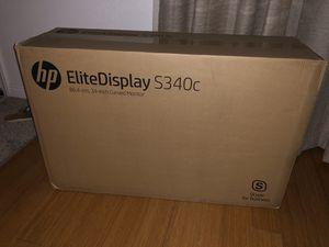 "HP EliteDisplay 34"" Curved Ultrawide Monitor for Sale in San Diego, CA"